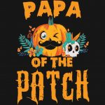 Halloween Papa Of The Patch Pumpkin PNG Free Download