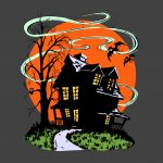 Vintage Halloween Haunted House PNG Free Download